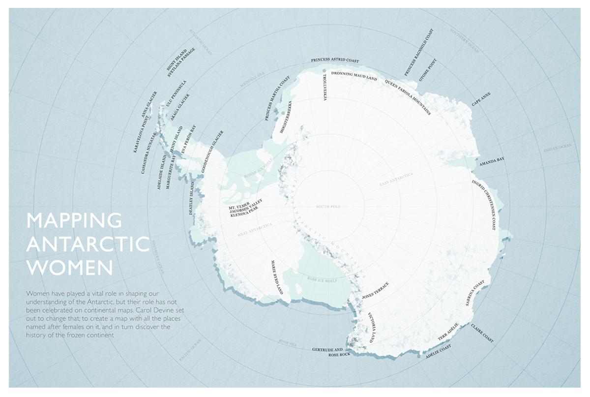 Mapping Antarctic Women