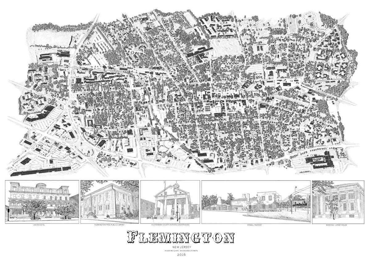 Flemington Town Map